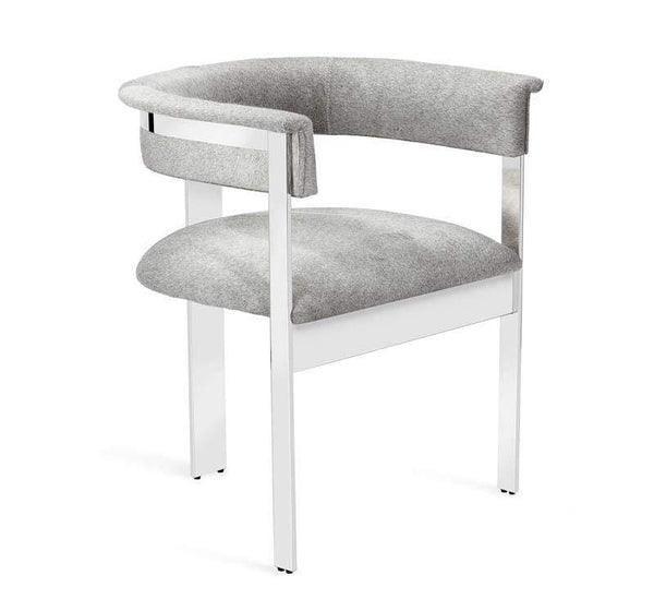 Interlude Home Darcy Hide Chair - Nickel 149126