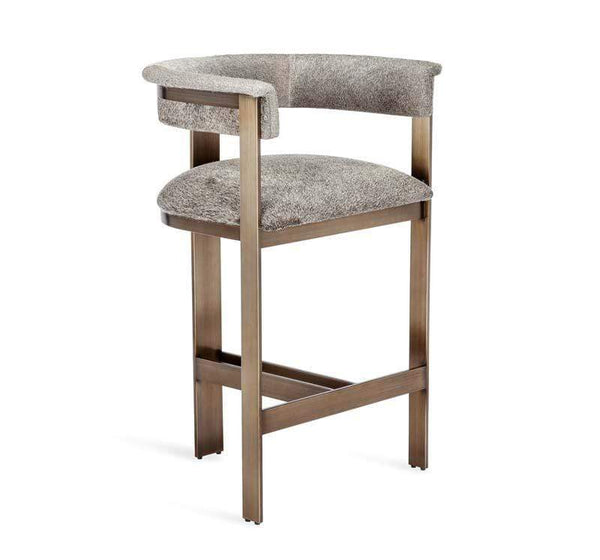 Interlude Home Darcy Hide Counter Stool - Bronze 149127