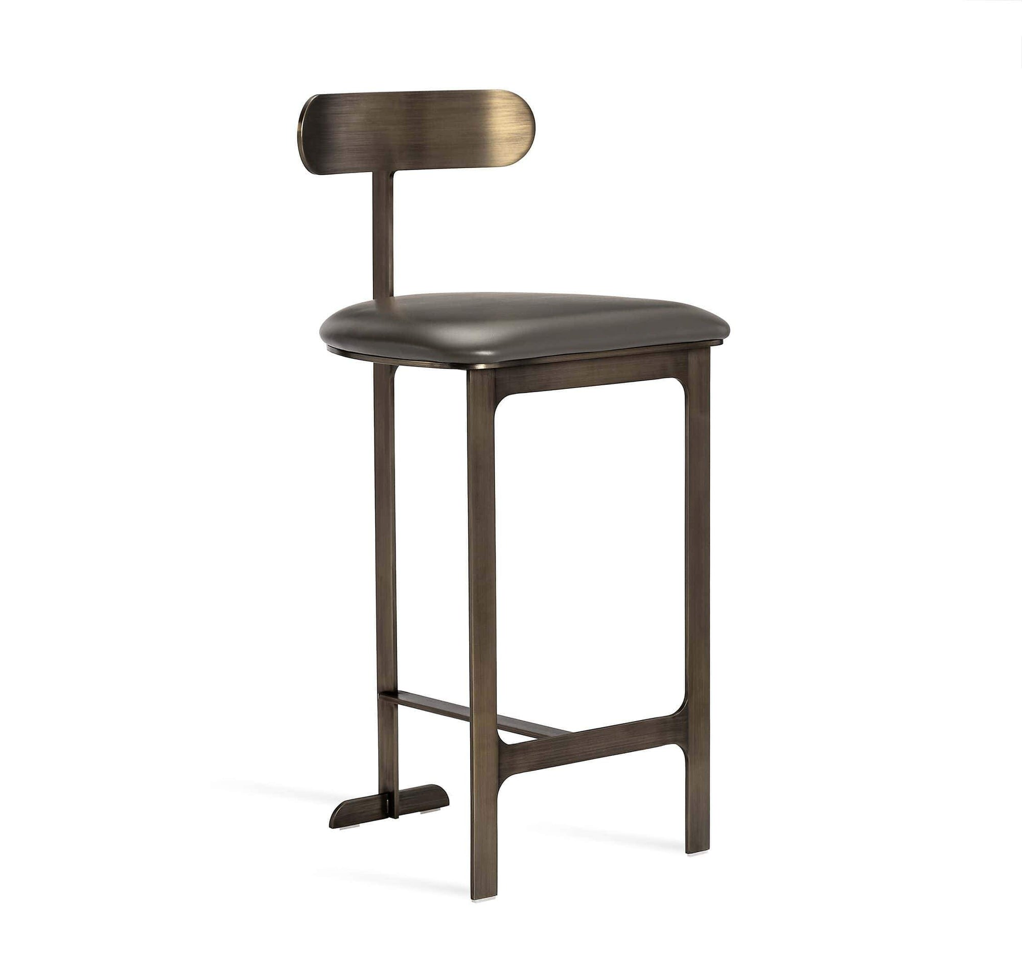 Interlude Home Interlude Home Hollis Counter Stool in Grey/ Bronze 148151