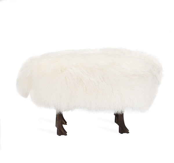 Interlude Home Interlude Home Jacques Sheep Sculpture/ Stool 175158