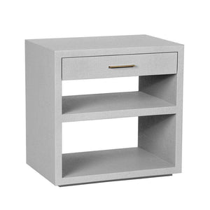 Interlude Home Livia Bedside Chest in Light Grey 188100