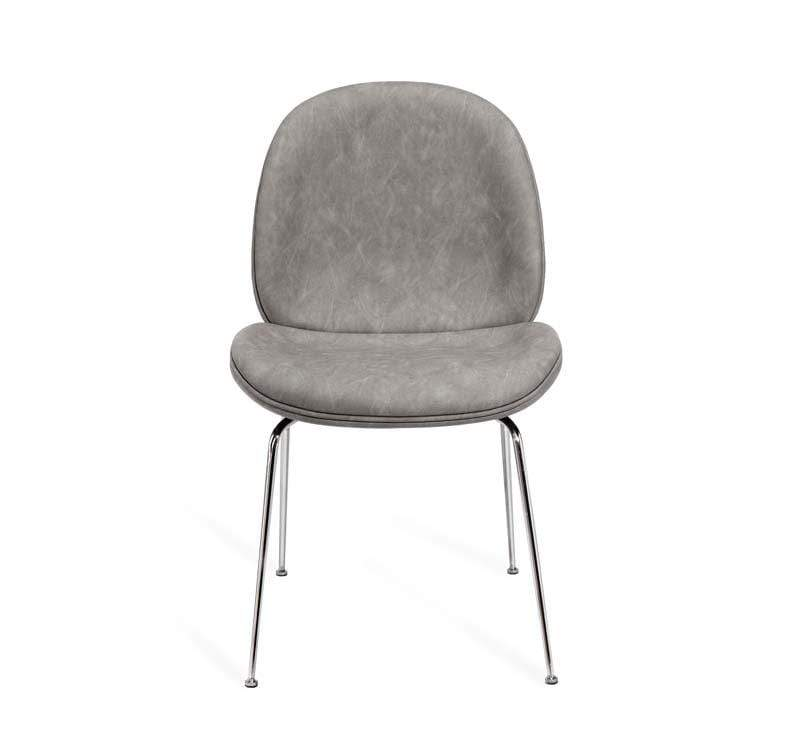 Interlude Home Luna Dining Chair - Distressed Charcoal 148194
