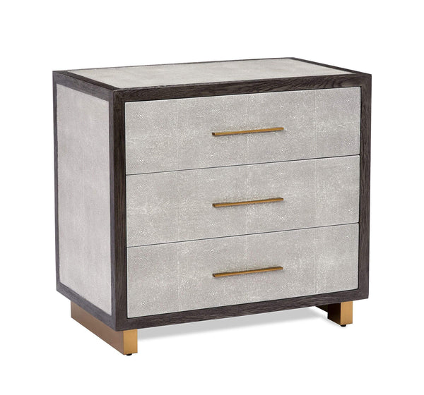 Interlude Home Interlude Home Maia Bedside Chest in Grey 188091