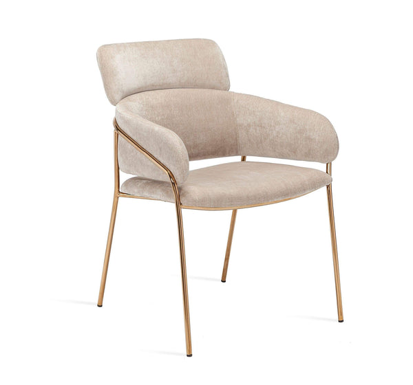 Interlude Home Marino Chair in Beige Latte 145181