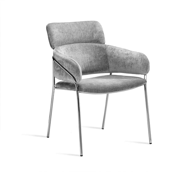 Interlude Home Marino Chair in Ocean Grey 145182