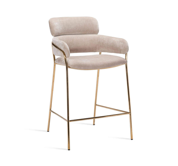 Interlude Home Marino Counter Stool in Beige Latte 145185
