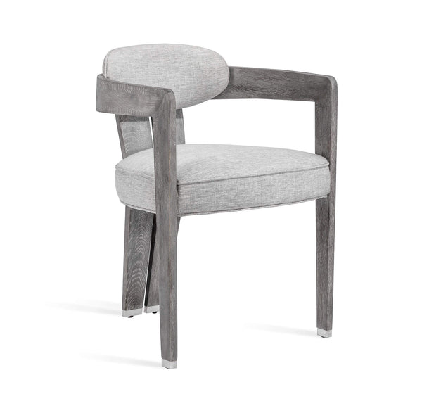 Interlude Home Maryl II Dining Chair in Grey Linen 148165