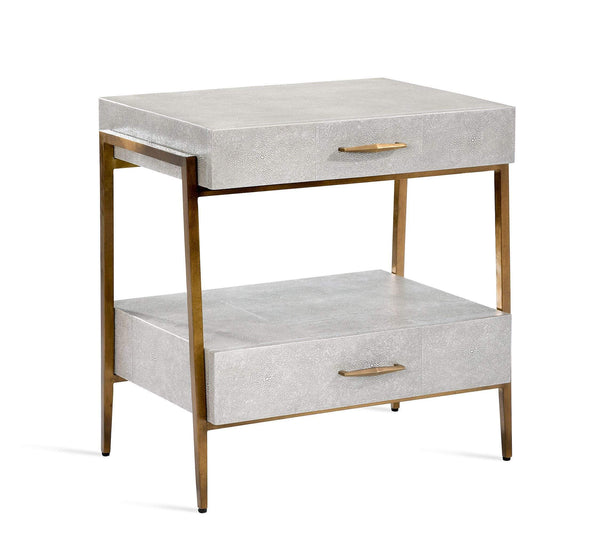 Interlude Home Interlude Home Morand Bedside Chest in Grey 188070