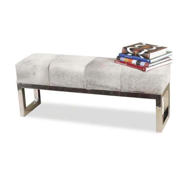 Interlude Home Moro Hide Bench 145036