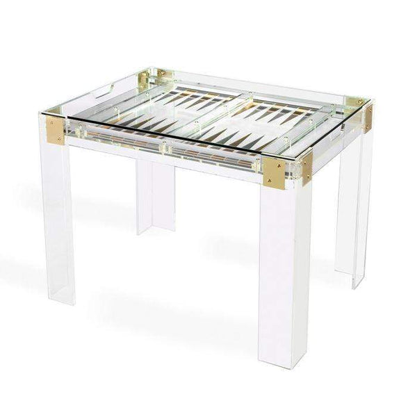 Interlude Home Pierre Acrylic Backgammon Table 165081