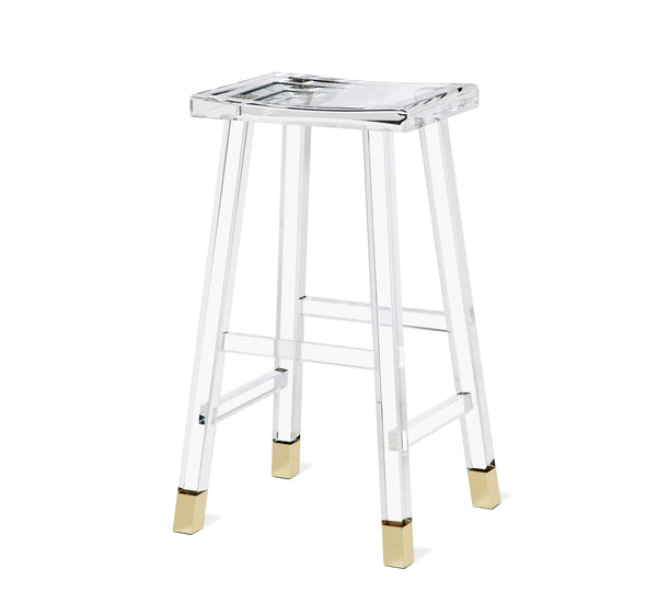 Interlude Home Reva Bar Stool in Brass 148014