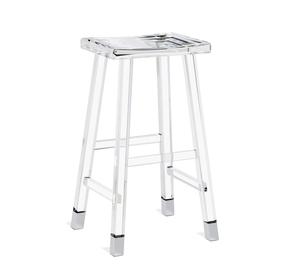 Interlude Home Reva Bar Stool in Nickel 145117