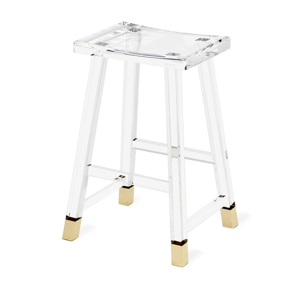 Interlude Home Reva Counter Stool in Brass 148012