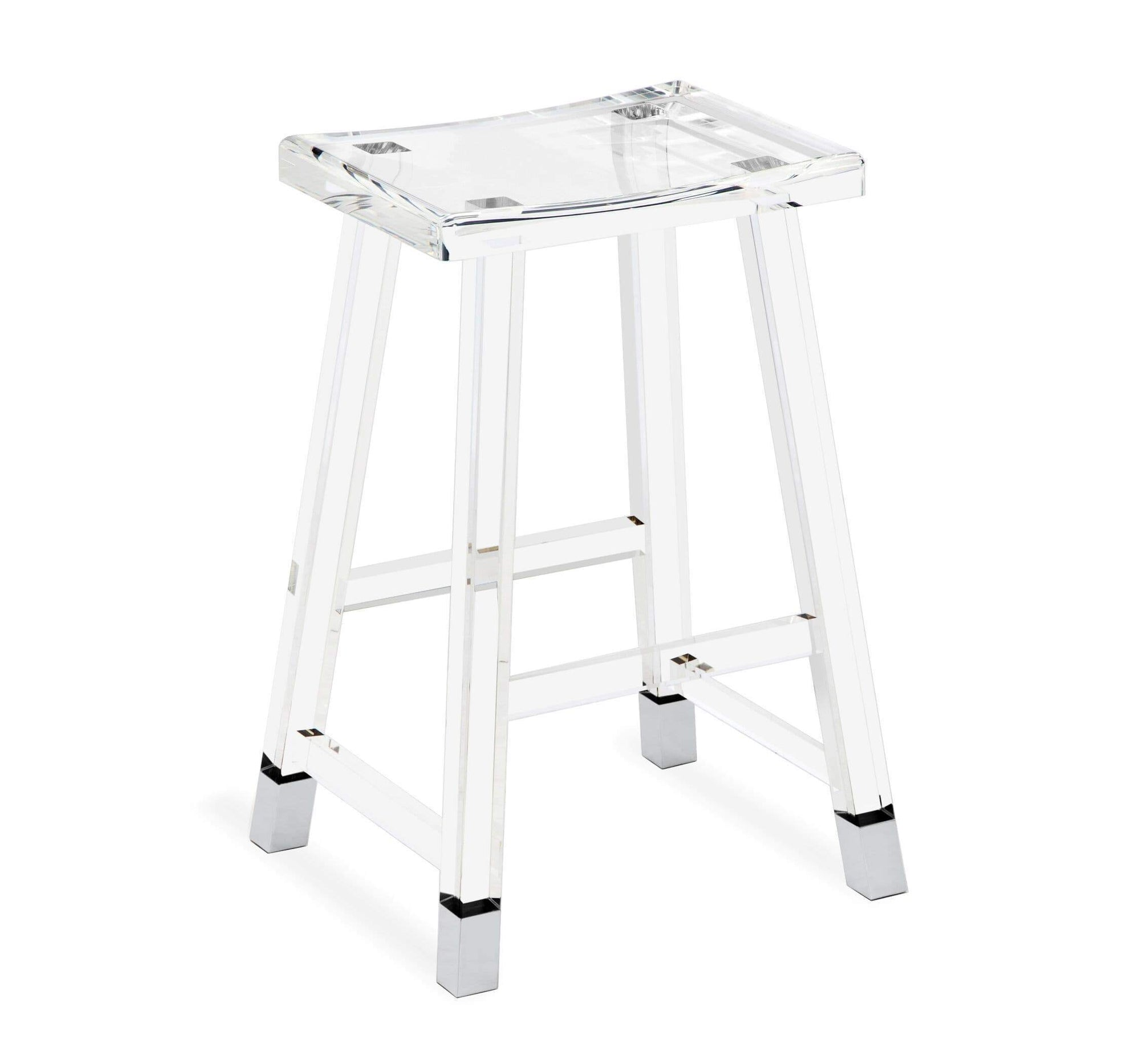 Interlude Home Interlude Home Reva Counter Stool in Nickel 145116