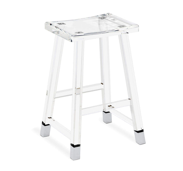 Interlude Home Reva Counter Stool in Nickel 145116