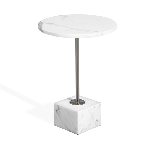 Interlude Home Interlude Home Rian Marble Side Table in Arabescato 168025