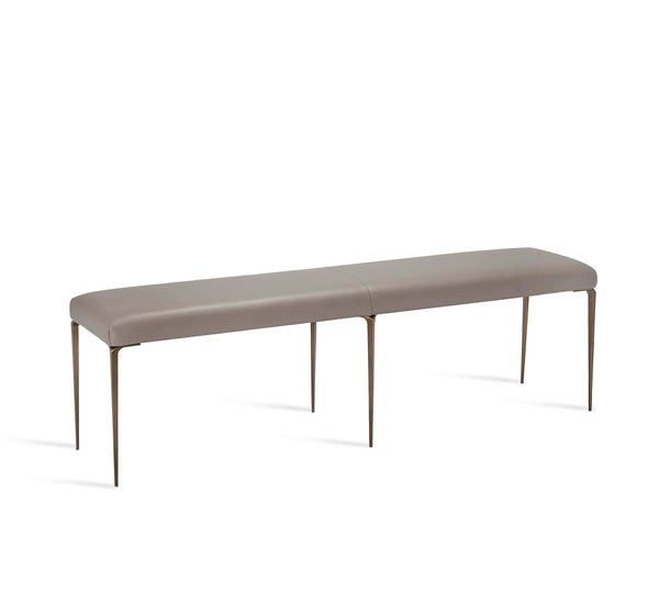 Interlude Home Stiletto Bench in Grey/ Bronze 175155