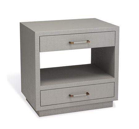 Interlude Home Taylor Bedside Chest in Grey 125190