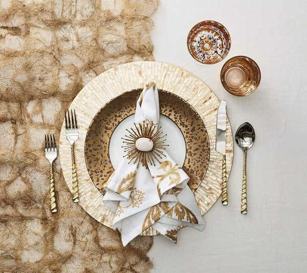 Kim Seybert Byzantine Placemat in Ivory & Gold - Set of 4 PM1191940IVYGD