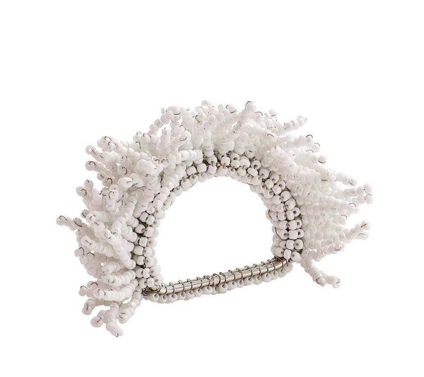 Kim Seybert Carnival Napkin Ring In White - Set of 4 NR1170472WHT