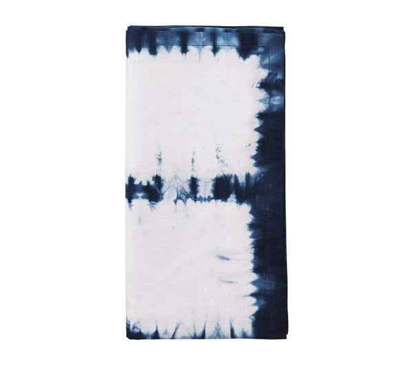 Kim Seybert Congo Napkin In White & Blue - Set of 4 NA1160242WHBL