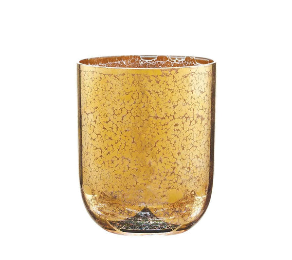 Kim Seybert Crackle Double Old Fashioned In Gold - Set of 4 DW2148926GD