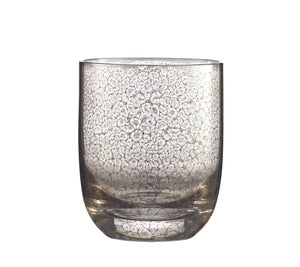 Kim Seybert Crackle Double Old Fashioned In Platinum - Set of 4 DW2148926PLTM