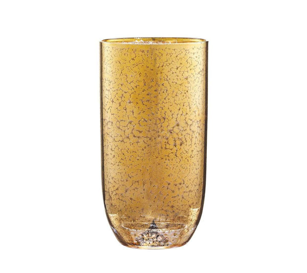 Kim Seybert Crackle Tumbler In Gold - Set of 4 DW2148925GD