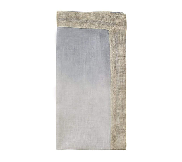 Kim Seybert Dip Dye Napkin In Gray & Silver - Set of 4 NA1159061GRYSL
