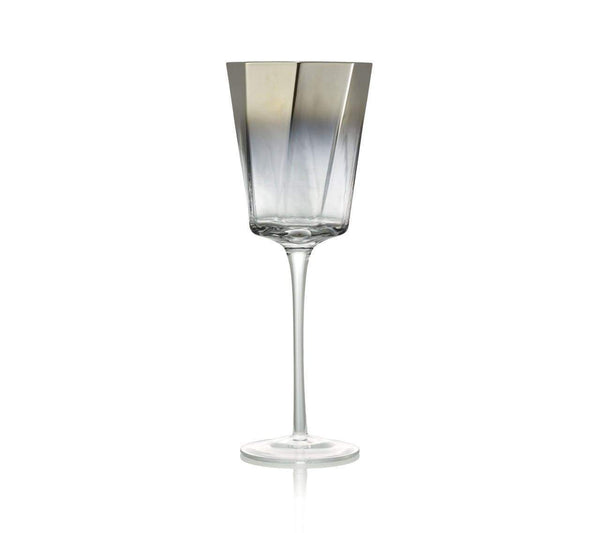 Kim Seybert Helix Goblet In Silver - Set of 4 DW1180842SLV