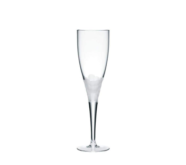 Kim Seybert Paillette White Wine Glass In Frost - Set of 4 DW1052078FFROST