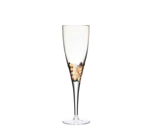 Kim Seybert Paillette White Wine Glass In Gold - Set of 4 DW1052078GD