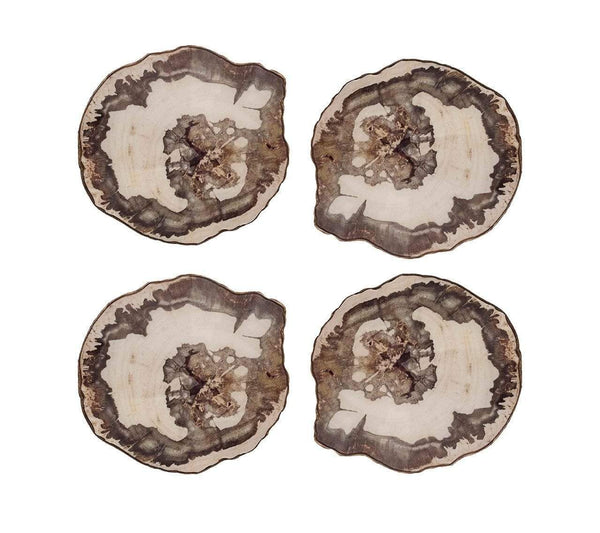 Kim Seybert Petrified Wood Coasters CO1170537NTBR