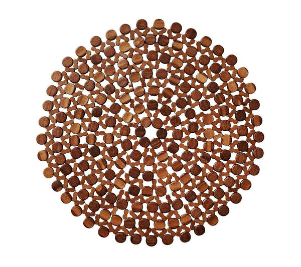 Kim Seybert Kim Seybert Round Bamboo Placemat In Brown - Set Of 4 PM2127550BRN
