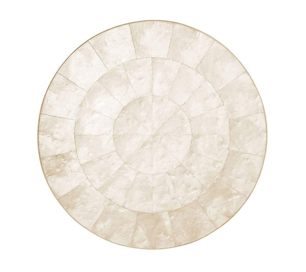 Kim Seybert Kim Seybert Round Capiz Placemat in Natural - Set Of 4 PM1052896NAT