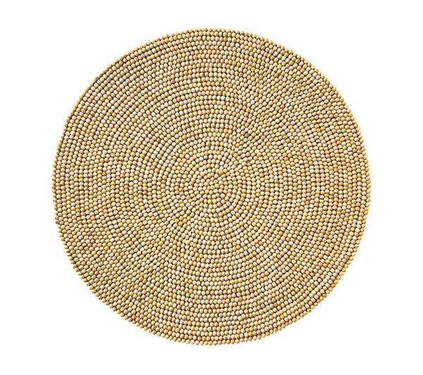 Kim Seybert Wood Bead Placemats in Natural - Set of 4 PM1054BNAT