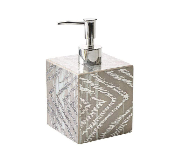 Kim Seybert Zebra Soap Dispenser DH2180990GRYSLV