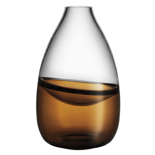 Kosta Boda Septum Vase in Golden Brown 7041608