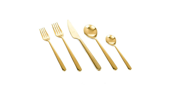 Mepra Mepra Linea Ice Oro 5-Piece Flatware Set 108122005