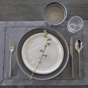 Mode Living Blue Hemstitch Amsterdam Placemats, S/4