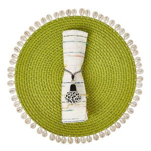 Mode Living Lime Green Capiz Placemats in 7 Colors PT001035- GR