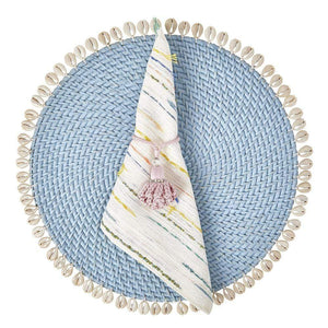 Mode Living Light Blue Capiz Placemats in 7 Colors PT001035- LB