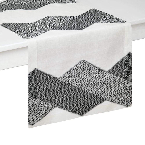 "Mode Living 16""x70"" / Black-White Chelsea Runner"