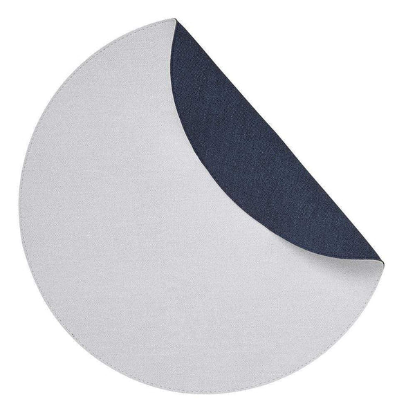 Mode Living White-Navy Chic Denim Placemats, S/4