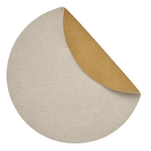 Mode Living Beige-Yellow Chic Denim Placemats, S/4