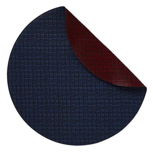 Mode Living Navy-Burgundy Everglades Placemats, S/4 Round