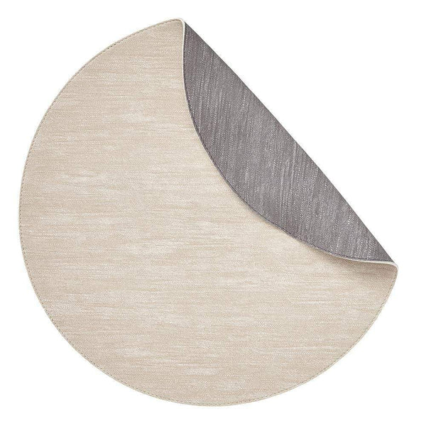 Mode Living Beige-Gray Jeanne Placemats, S/4 Round