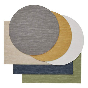 Mode Living Mode Living Jeanne Placemats, S/4 Round White-Navy AP004045-WN