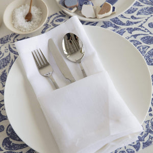 "Mode Living 22"" Square / White Pure Linen Napkins, S/4 MT100022-WH"