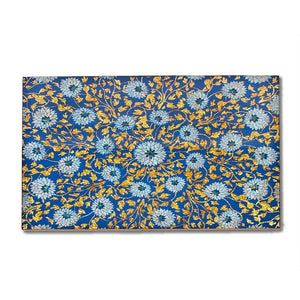 Nomi K Blue and Gold Glass Mirror placemat BLUGLDGL
